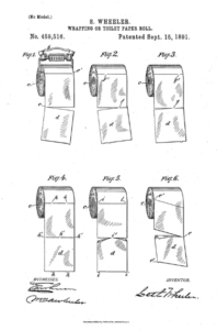 Patent for toilet paper