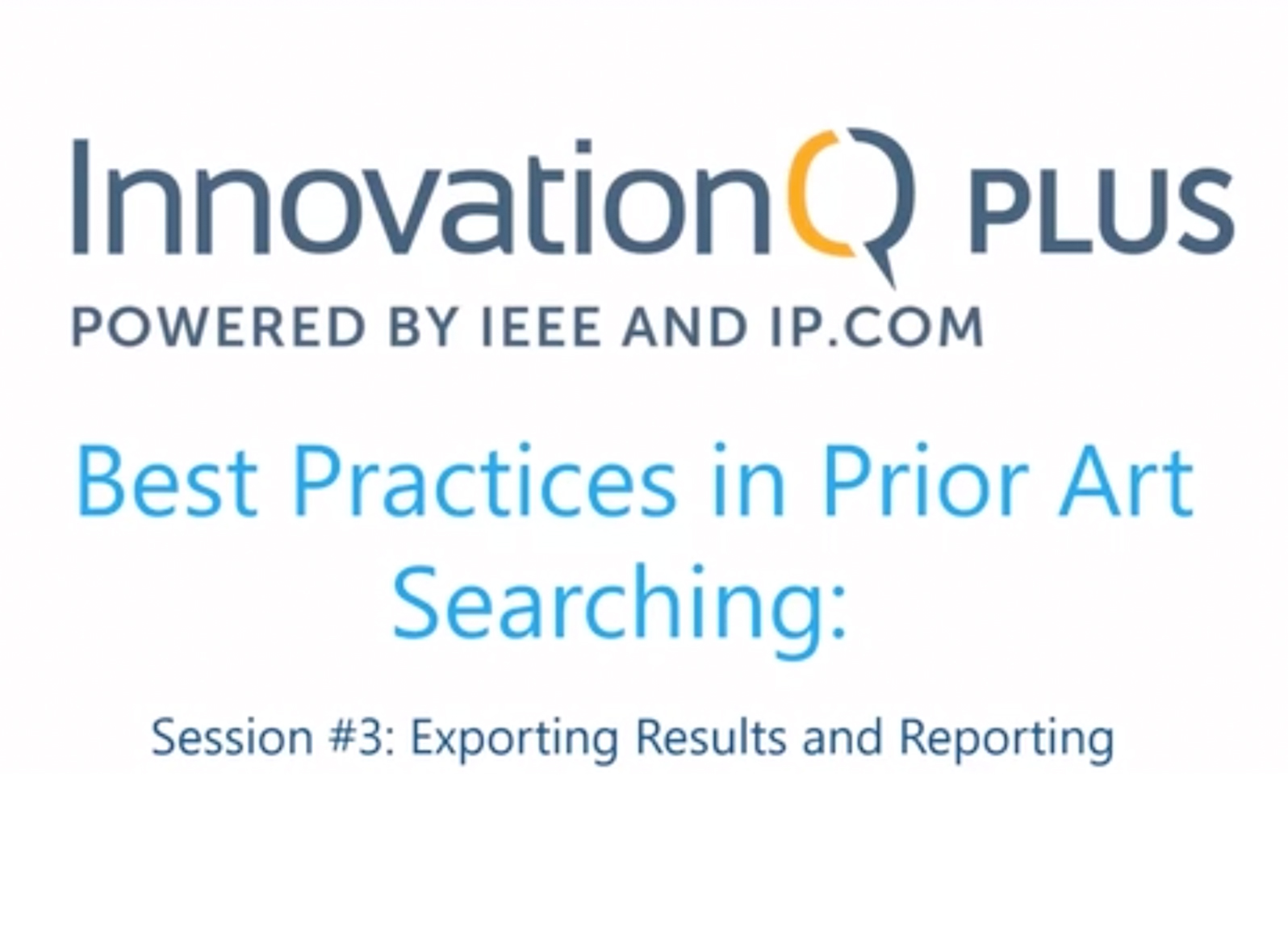 Prior art searching webinar